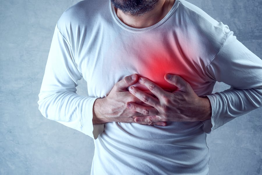 Chest pains after a car accident