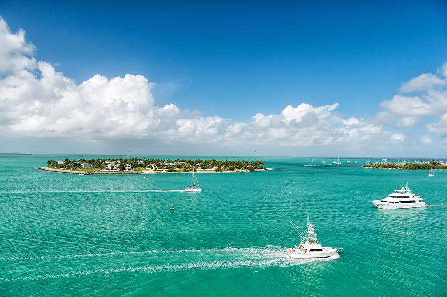 Boats and yachts on florida coasts
